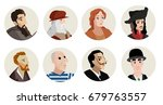 greatest painters from all the...   Shutterstock .eps vector #679763557