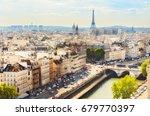 scenic rooftop view of paris ... | Shutterstock . vector #679770397