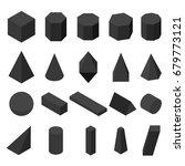 set of 3d geometric shapes.... | Shutterstock .eps vector #679773121