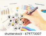 double exposure of business 4.0 ... | Shutterstock . vector #679773307