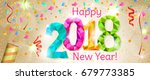 happy new year 2018 greeting... | Shutterstock .eps vector #679773385