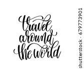 travel around the world black... | Shutterstock .eps vector #679773901