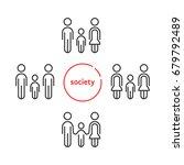 linear simple modern family... | Shutterstock .eps vector #679792489