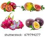 collection of exotic fruits... | Shutterstock . vector #679794277
