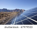 mojave desert solar array at... | Shutterstock . vector #67979533