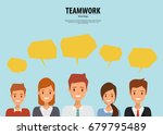 group people business and... | Shutterstock .eps vector #679795489
