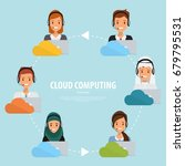 business people of cloud... | Shutterstock .eps vector #679795531