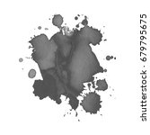 abstract watercolor grayscale... | Shutterstock .eps vector #679795675