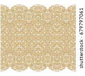 seamless ornamental vector lace ... | Shutterstock .eps vector #679797061