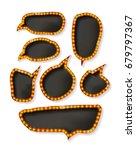 set of elegant sparkling black... | Shutterstock . vector #679797367