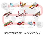 international trade logistics... | Shutterstock .eps vector #679799779