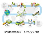 international trade logistics... | Shutterstock .eps vector #679799785