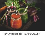 vegan diet food. detox drinks.... | Shutterstock . vector #679800154