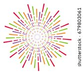 circle bursting background....   Shutterstock .eps vector #679803061