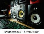 high quality loudspeakers in dj ... | Shutterstock . vector #679804504