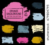 grunge brush stroke background... | Shutterstock .eps vector #679804795