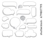 speech bubbles. set of hand...   Shutterstock .eps vector #679807795