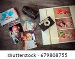album with children is photos ... | Shutterstock . vector #679808755