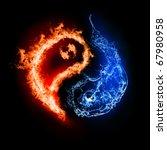 Symbol Of Yin And Yang Of The...