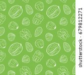 seamless pattern with assorted... | Shutterstock .eps vector #679812271