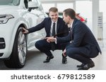 professional salesman and his...   Shutterstock . vector #679812589