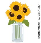 Vector Bouquet Of Sunflowers I...