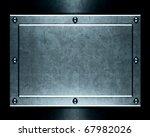 brushed aluminum metallic plate ...   Shutterstock . vector #67982026