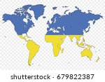 an outline of the world with... | Shutterstock .eps vector #679822387