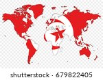 an outline of the world with...   Shutterstock .eps vector #679822405