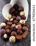 a lot of variety chocolate... | Shutterstock . vector #679826611
