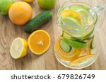 infused detox water with... | Shutterstock . vector #679826749