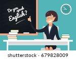 do you speak english concept. a ...   Shutterstock .eps vector #679828009