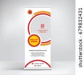 banner roll up vector  graphic... | Shutterstock .eps vector #679832431