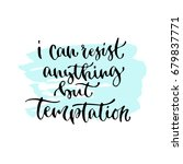 i can anything but temptation   ... | Shutterstock .eps vector #679837771