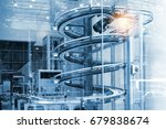 automated conveyor systems  ... | Shutterstock . vector #679838674