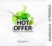 hot offer banner | Shutterstock .eps vector #679839814