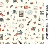 crafts doodle vector objects... | Shutterstock .eps vector #679841839