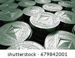 ethereum classic  etc  coins in ... | Shutterstock . vector #679842001