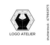 the logo atelier. vector...   Shutterstock .eps vector #679843975