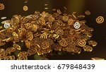 3d rendering of falling signs... | Shutterstock . vector #679848439