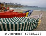 vintage fishing boats covered... | Shutterstock . vector #679851139