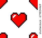 pixel heart love seamless... | Shutterstock .eps vector #679854469
