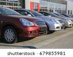 cars for sale stock lot row.... | Shutterstock . vector #679855981