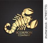 3d golden scorpion logo | Shutterstock .eps vector #679857751