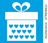 gift box with ribbon bow icon... | Shutterstock .eps vector #679858621