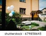 balloons near the fountain in...   Shutterstock . vector #679858645
