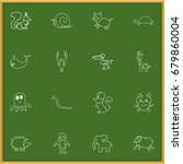 set of 16 editable animal...