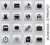 set of 16 editable education... | Shutterstock .eps vector #679861927