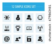 set of 12 editable internet...