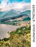 panorama of torbole  a small... | Shutterstock . vector #679873459